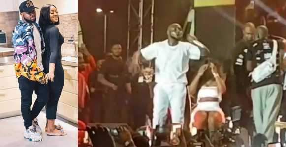Watch The Beautiful Moment Davido Brought Chioma On Stage At His Concert Last Night Video