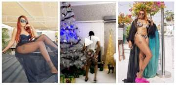 Rukky Sanda Shows Off Her Dance Moves And Christmas Tree Decorations (Videos)