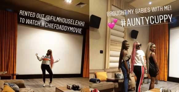 DJ Cuppy Rents Out Filmhouse Cinema To Watch %E2%80%9CChief Daddy%E2%80%9D Movie With Her Friends Photos