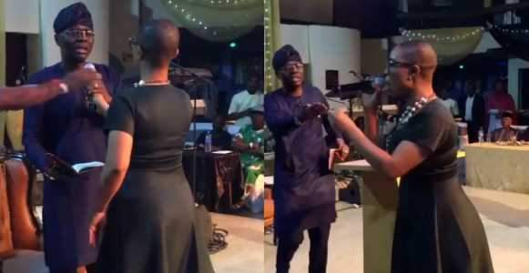 Drama Between Lagos APC Governorship Candidate Sanwo Olu And A Questioner At An Event Video