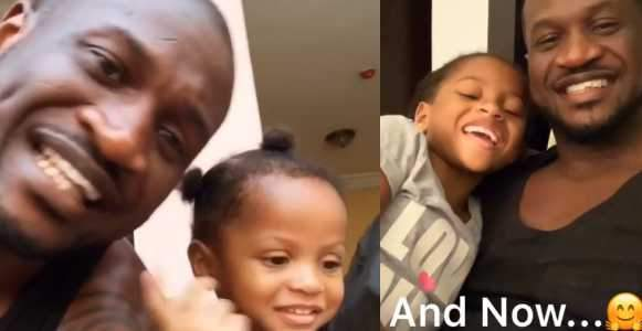 Peter Okoye Recreates 4 Year Old Video Of Himself And His Daughter To Celebrate Her Birthday