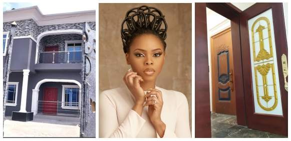 Chidinma finally moves in to her newly built home (Photos)