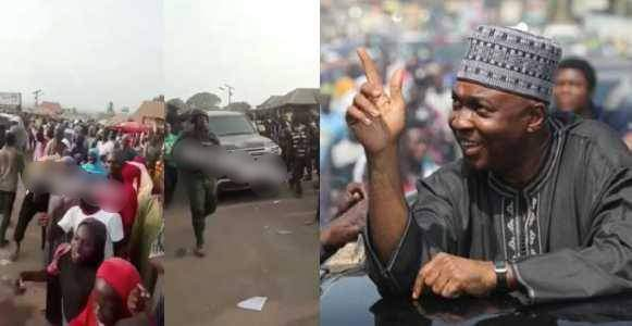 """Saraki welcomed with chants of """"Thief"""" during a campaign In Kwara (Video)"""
