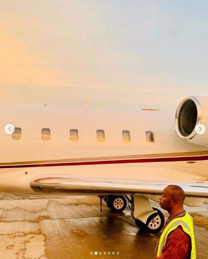 Regina Daniels congratulates husband as he acquires a private jet