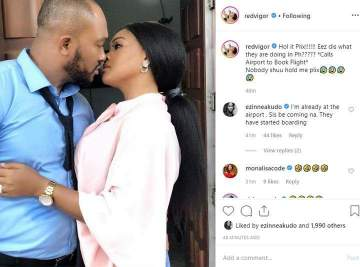"""""""Calling My Lawyers"""" - Blossom Chukwujekwu's Wife Reacts To Romantic Pic Of Husband On Set With Mercy Aigbe"""