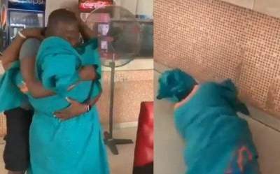 Mother Causes Scene at Eatery After Seeing Son Who Has Been Away For 5 Years (Video)