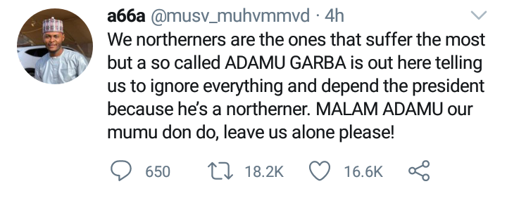 We Northerners Suffer The Most Our Mumu Don Do Man Blasts Garba Adamu For Asking Northerners To Ignore Endsars Because Buhari Is Their Brother