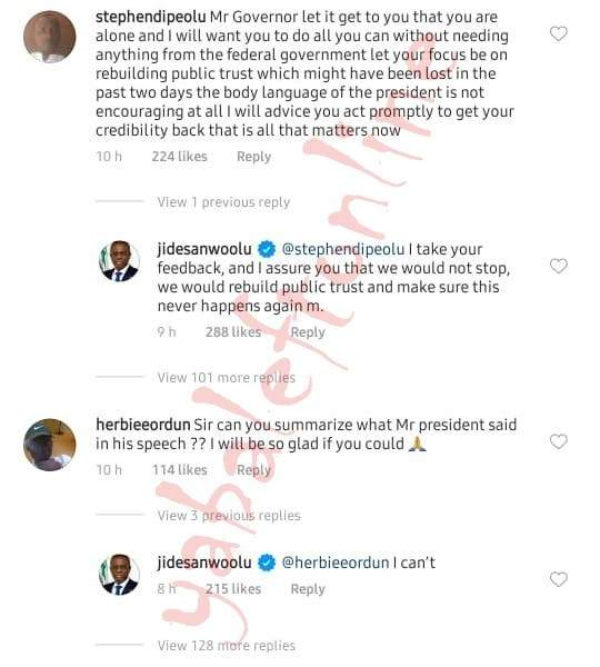 Endsars Governor Sanwo Olu Replies A Lady Who Asked Him To Summarize Pres Buharis Speech 2