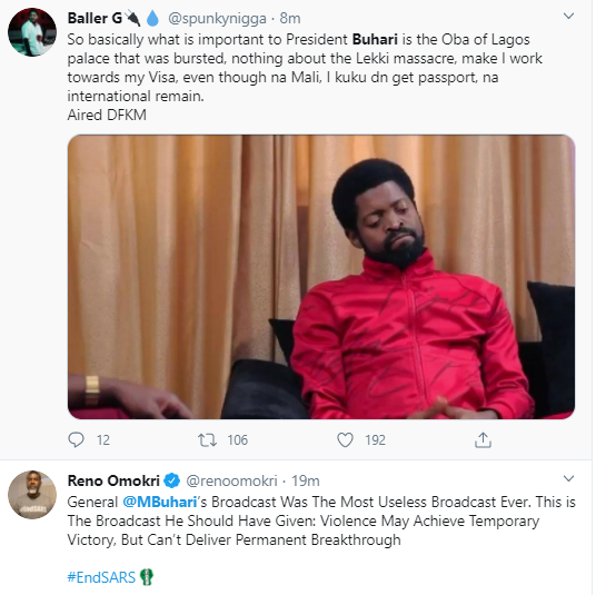 Jubril Is At Home Watching His Pre Recorded Video Nigerians React To Buharis Speech On Endsars Protests 14