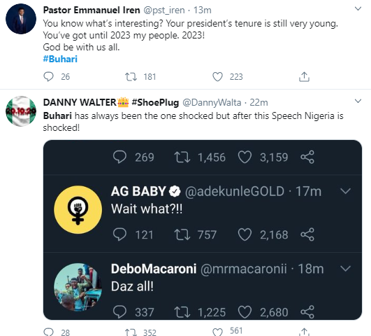 Jubril Is At Home Watching His Pre Recorded Video Nigerians React To Buharis Speech On Endsars Protests 15