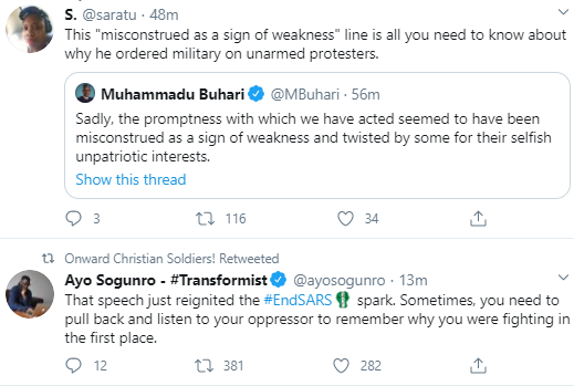 Jubril Is At Home Watching His Pre Recorded Video Nigerians React To Buharis Speech On Endsars Protests 5