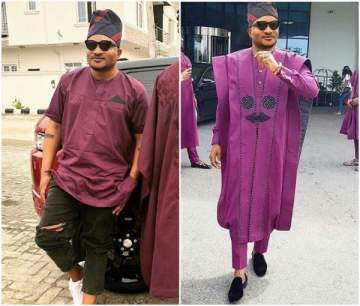 MasterKraft Shares Photo-shopped Photo of Himself in Ebuka's famous Agbada