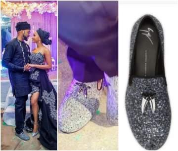 Banky W's wedding Giuseppe Zanotti shoe cost about N290k (Photos)