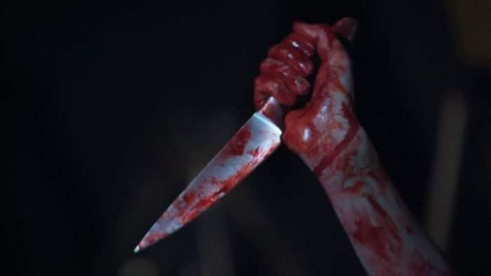 Mad Serial Killer Gripping Knife Covered In Blood Hands Of Ruthless Maniac_hlmdebhcig_thumbnail Full01