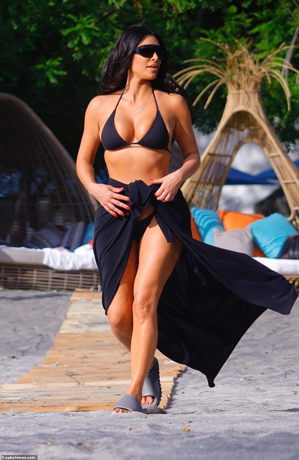 Kim Kardashian Showcases Her Killer Curves In Tiny Bikini (Photos)
