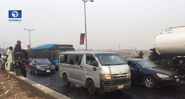 Photos From Scene Of Tanker Explosion In Maryland, Lagos