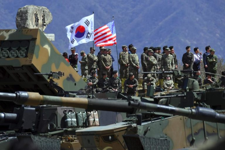 U_S_ And South Korean Troops Begin Drill