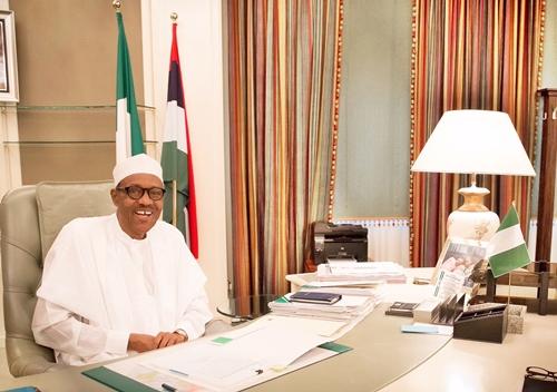 Buhari At Aso Villa Office 1