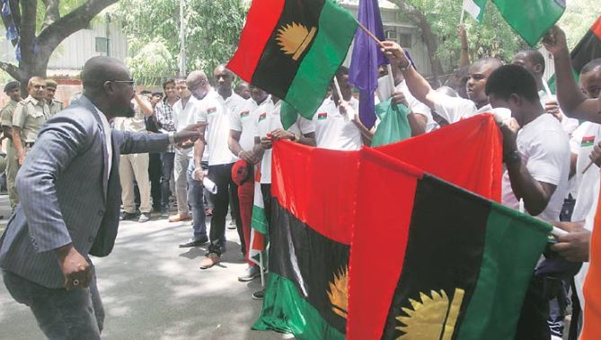 Biafran supporters