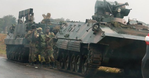 Military Tanks In Harare