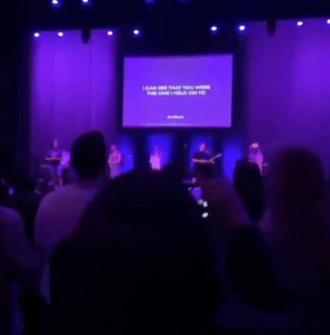 The church service