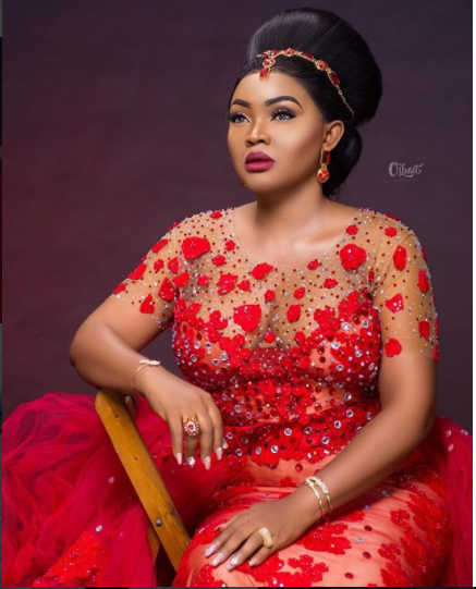 Mercy Aigbe Red Dress 1