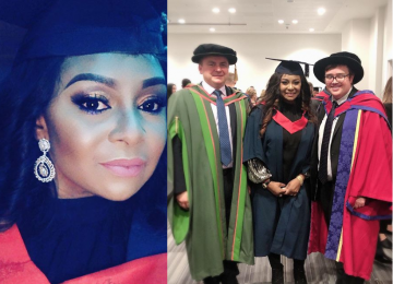 Former Actress Victoria Inyama celebrates as she bags a degree from a University (Photos)