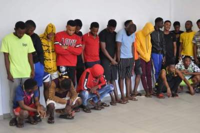 16 year old Yahoo Boy, 28 Others Arrested For Internet Fraud In Owerri