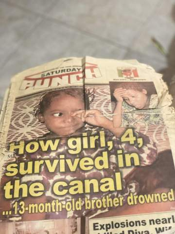 New photos of the 4-year-old girl who survived Ikeja Cantonment Bomblast in 2002.