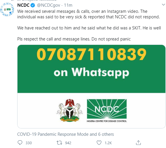 NCDC Fake