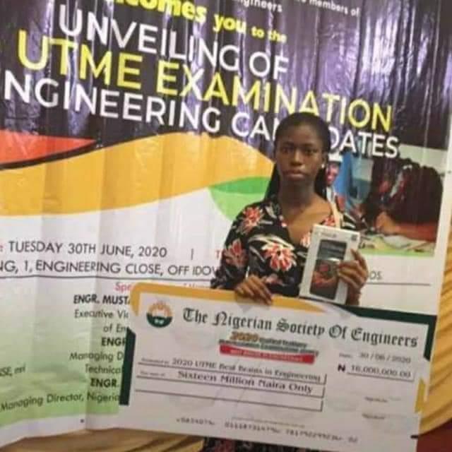 Agnes Highest Jamb Score Receives 16m