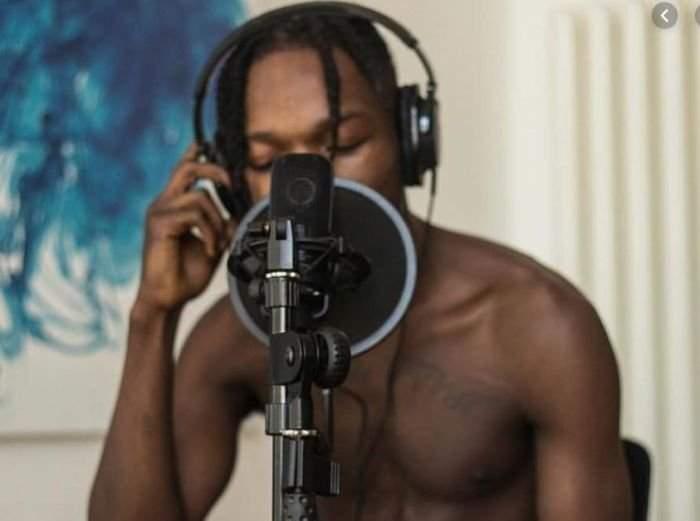 Naira Marley In The Studio