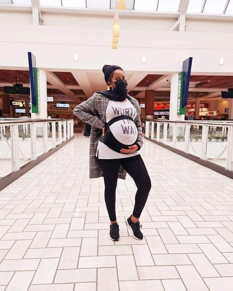 New Mother, Adesua Etomi-Wellington shares more photos she took during the course of her pregnancy.