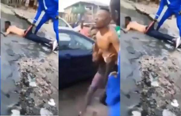 Yahoo boy allegedly runs mad after failing to use his mother for money ritual (video)