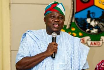 What Ambode said after receiving UEFA Champions league trophy