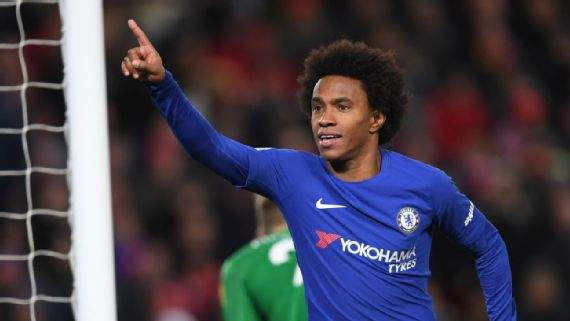 Transfer: Chelsea decide on Willian's move to Barcelona, Atletico Madrid
