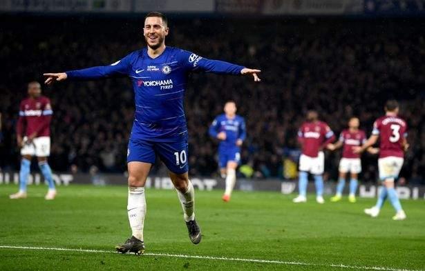 Hazard Celebrates Vs West Ham Apr2019