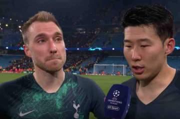 Champions League: What Son, Eriksen said after Tottenham's 4-3 defeat of Man City