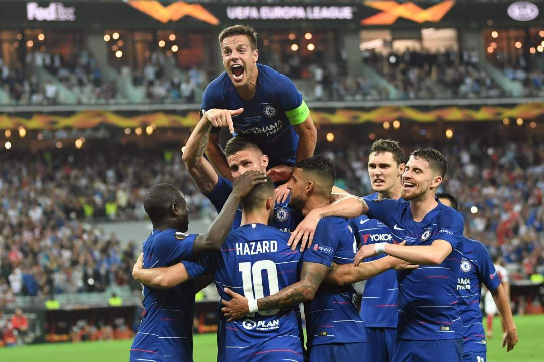 Chelsea Players Europa League Final May2019