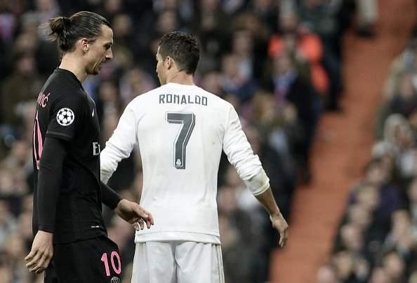 Cristiano Ronaldo Zlatan Ibrahimovic.
