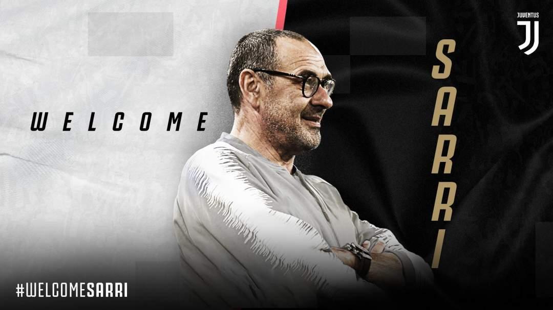Juventus names Maurizio Sarri new manager as Italian exits Chelsea