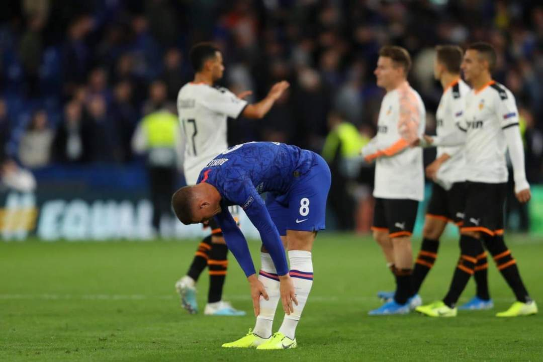 Champions League: What Chelsea players did to Barkley after penalty miss against Valencia