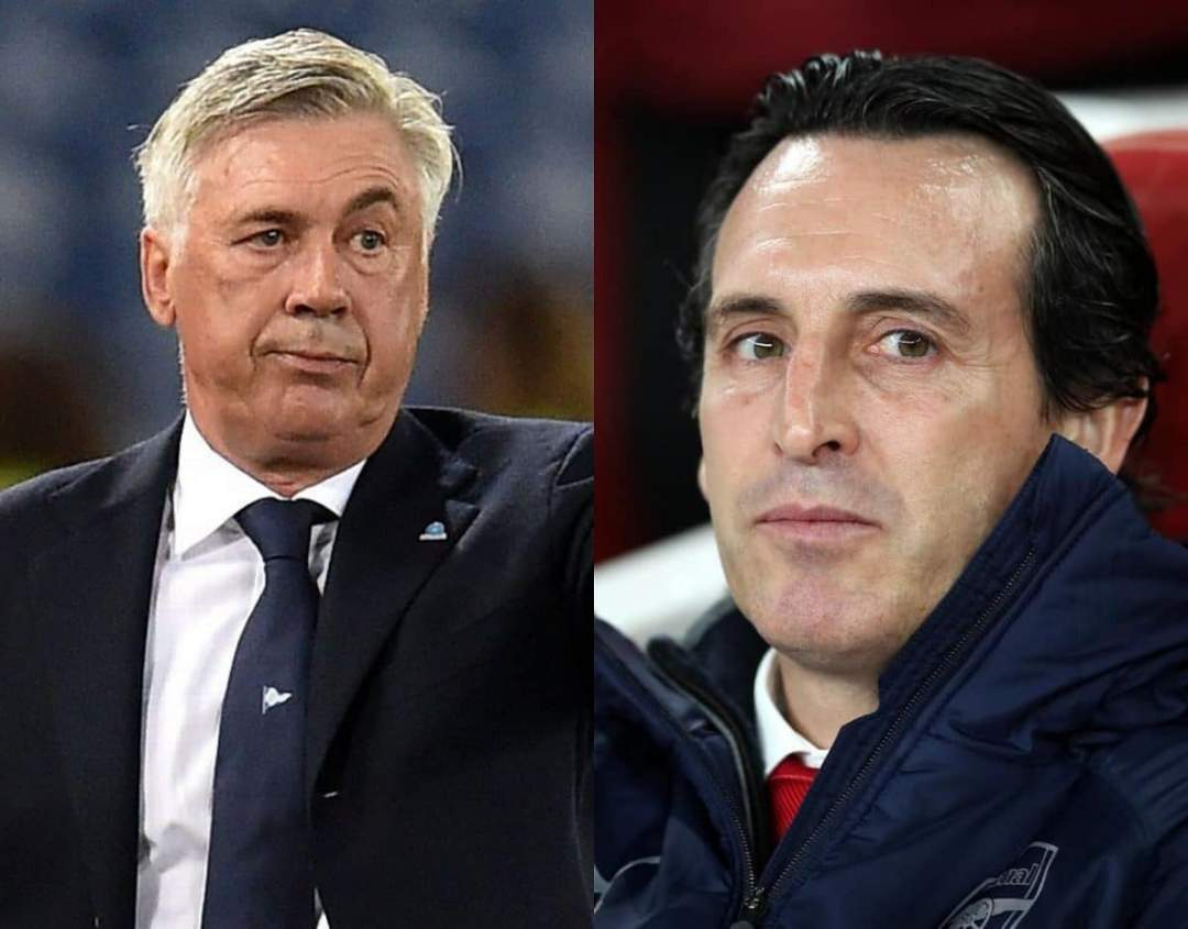 EPL: Arsenal take decision on replacing Unai Emery with Ancelotti