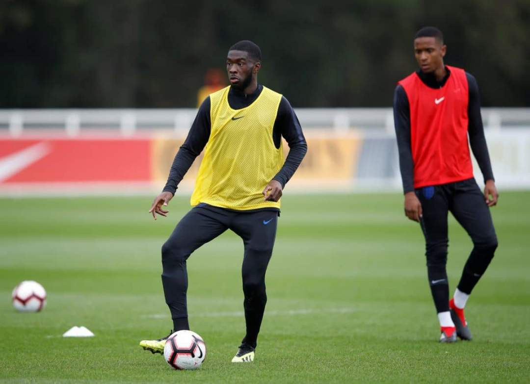 Fikayo Tomori In Training For The England Under 21s