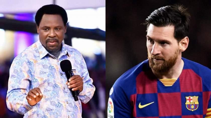T.B Joshua advises Messi against leaving Barcelona