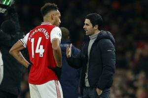 EPL: Arteta decides on Aubameyang's status as Arsenal captain