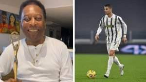 World's highest goal scorer: Pele reacts as Cristiano Ronaldo breaks record