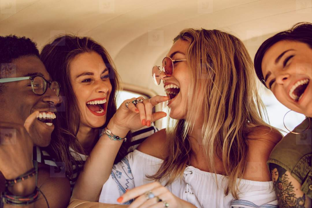Group Of Friends Having Fun On A Road Trip Photo YouWorkForThem