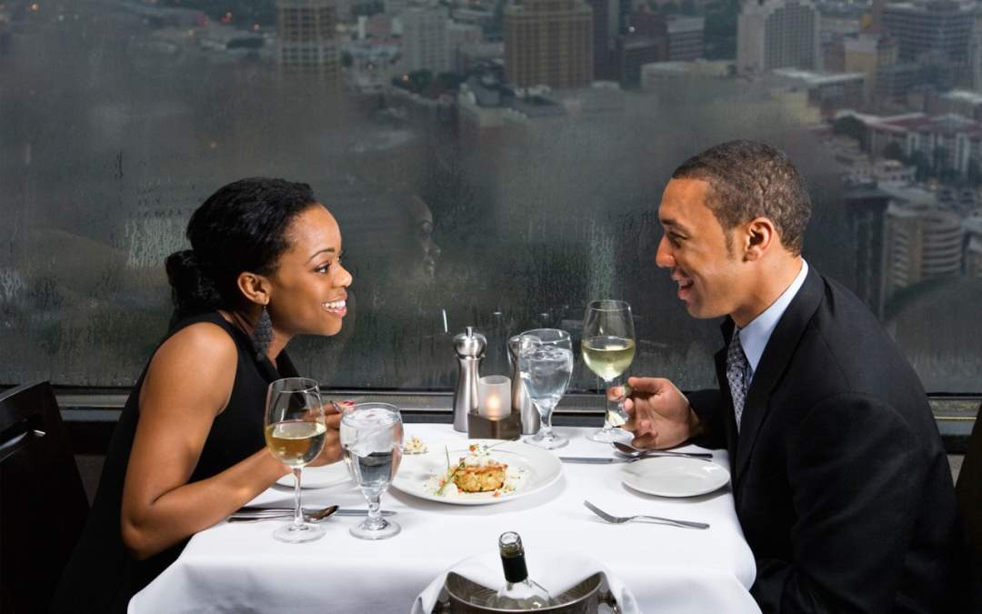 Black Couple On A Date Ebony