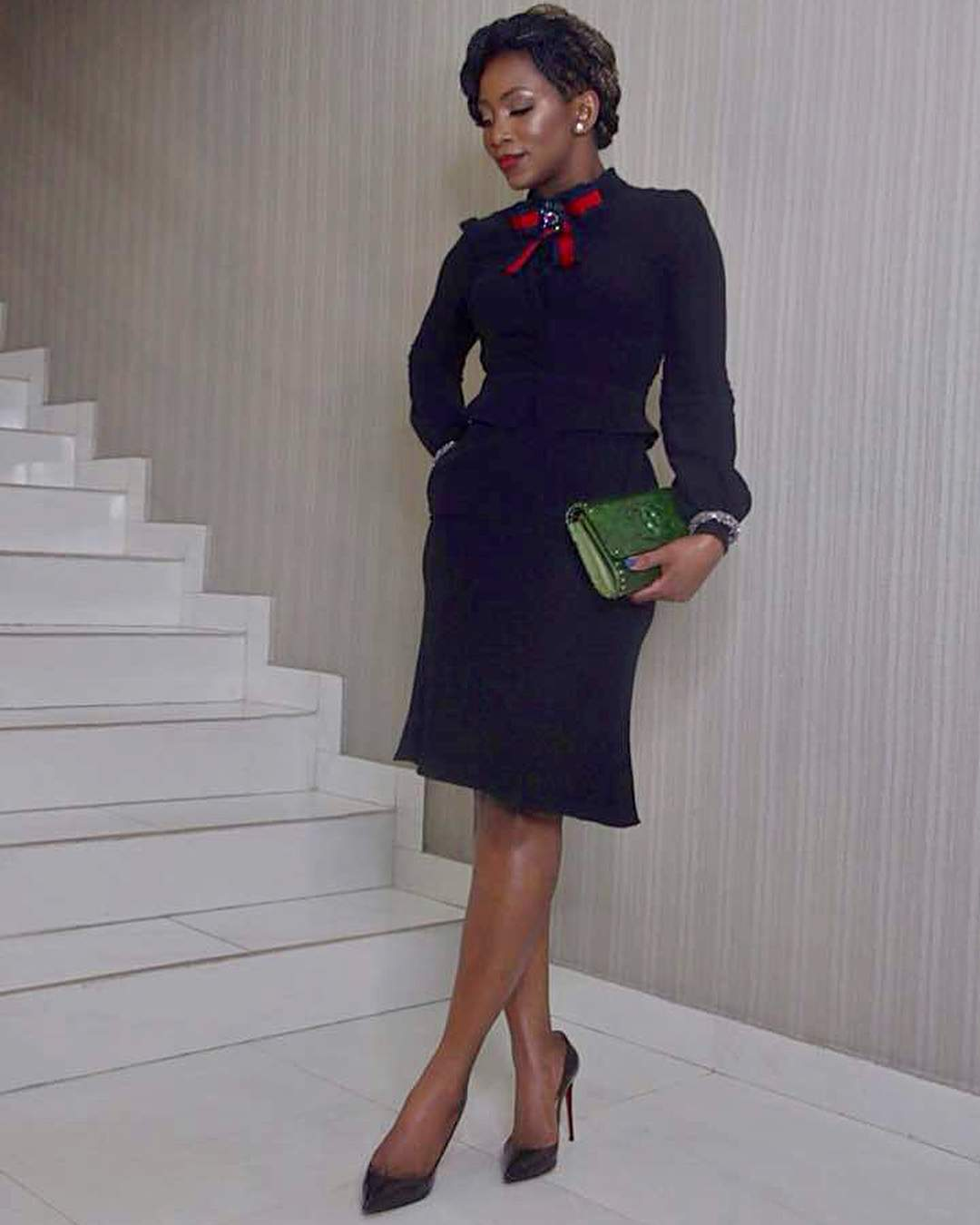 Genevieve Nnaji In A Knee Length Dress Photo Accelerate TV
